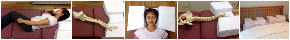 sleeping pillow for spine alignment and tension relief